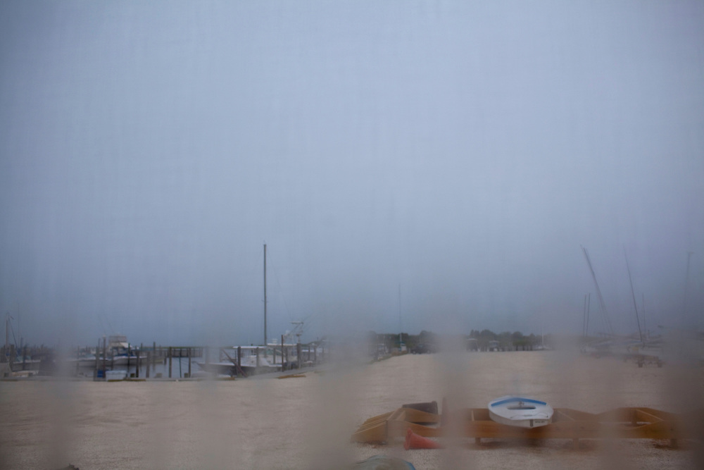 Long Beach Island, NJ - June 30, 2013 :  The view outside the window of the Dockside Diner on Long Beach Island, NJ on June 30, 2013.