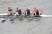 London, Great Britain,   Start No 106 AGECROFT III.  Women's Elite 4x-. approach the start at Mortlake, Photo from Chiswick Bridge.  Fullers,  Fours Head of the River Race, Championship Course, Mortlake to Putney, River Thames. Saturday   05/11/2011   [Mandatory Credit. Peter Spurrier/Intersport Images]