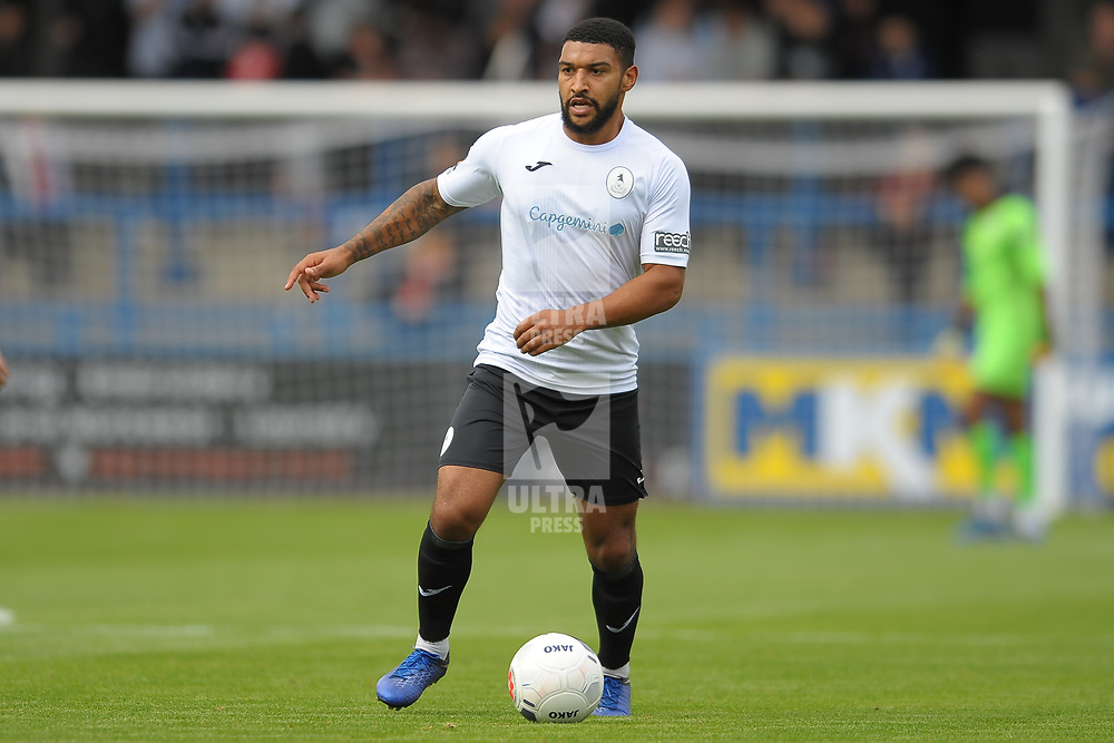 TELFORD COPYRIGHT MIKE SHERIDAN Ellis Deeney of Telford during the National League North fixture between AFC Telford United and Gateshead FC at the New Bucks Head Stadium on Saturday, August 10, 2019<br /> <br /> Picture credit: Mike Sheridan<br /> <br /> MS201920-005