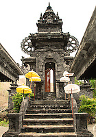 Ornate stone portal to an east Bali temple.