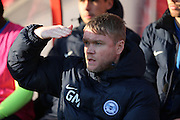 Peterborough United Manager Grant McCann first half 0-0 during the EFL Sky Bet League 1 match between Swindon Town and Peterborough United at the County Ground, Swindon, England on 21 January 2017. Photo by Gary Learmonth.