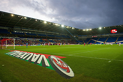 CARDIFF, WALES - Tuesday, August 21, 2014: A General View of Cardiff City Stadium, during the FIFA Women's World Cup Canada 2015 Qualifying Group 6 match at the Cardiff City Stadium. (Pic by Ian Cook/Propaganda)