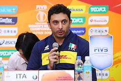 DAVIDE MAZZANTI (ALLENATORE ITALIA)<br /> CONFERENZA STAMPA ALLENATORI<br /> PALLAVOLO CAMPIONATO MONDIALE FEMMINILE VOLLEY GIAPPONE 2018<br /> FINAL SIX<br /> YOKOHAMA (JPN) 18-10-2018<br /> FOTO FILIPPO RUBIN