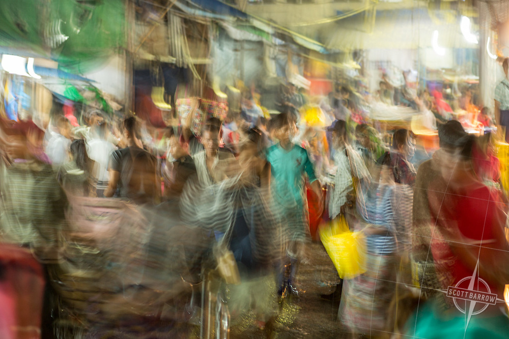 The Yangon, Myanmar fish and poultry market.