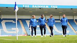 Peterborough United players Louis Reed, Callum Cooke, Jason Cummings and Matt Godden at Gillingham - Mandatory by-line: Joe Dent/JMP - 22/09/2018 - FOOTBALL - Medway Priestfield Stadium - Gillingham, England - Gillingham v Peterborough United - Sky Bet League One