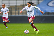 West Ham United Women midfielder Kenza Dali (21) in action during the FA Women's Super League match between Manchester City Women and West Ham United Women at the Sport City Academy Stadium, Manchester, United Kingdom on 17 November 2019.