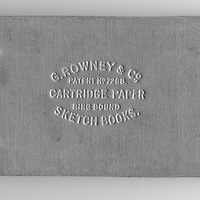 Sketch book cover G. Rowney & Co Cartridge Paper ring bound