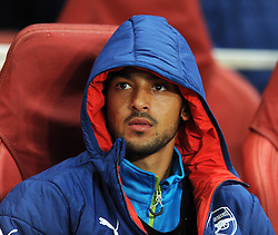 Arsenal's Theo Walcott did not come on from the bench in the game against Anderlecht - Photo mandatory by-line: Dougie Allward/JMP - Mobile: 07966 386802 - 04/11/2014 - SPORT - Football - London - Emirates Stadium - Arsenal v RSC Anderlecht - Champions League - Group D