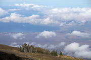 The spectacular view from the top of Haleakala, Maui's giant dormant volcano.