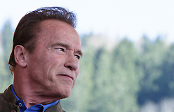 23.03.2017, Wetzlarerplatz, Schladming, AUT, Special Olympics 2017, Wintergames, Arnold Schwarzenegger besucht eine Siegerehrung im Rahmen der Spiele, im Bild Arnold Schwarzenegger, Porträt // during the Special Olympics World Winter Games Austria 2017 in Schladming, Austria on 2017/03/23. EXPA Pictures © 2017, PhotoCredit: EXPA / Martin Huber