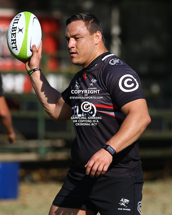 Coenie Oosthuizen during The Cell C Sharks training session at Growthpoint Kings Park in Durban, South Africa 25th July 2017 (Photo by Steve Haag)<br /> <br /> images for social media must have consent from Steve Haag