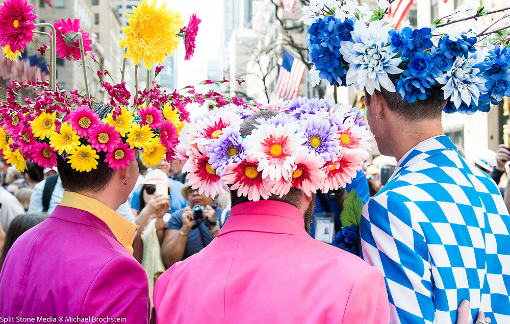 """Easter Bonnet Parade on Fifth Avenue in New York City on Easter Sunday. See more images by clicking on """"Image Galleries +"""" at the top left of this page, then selecting """"All Galleries"""" and then selecting """"Easter Bonnet Parade""""."""