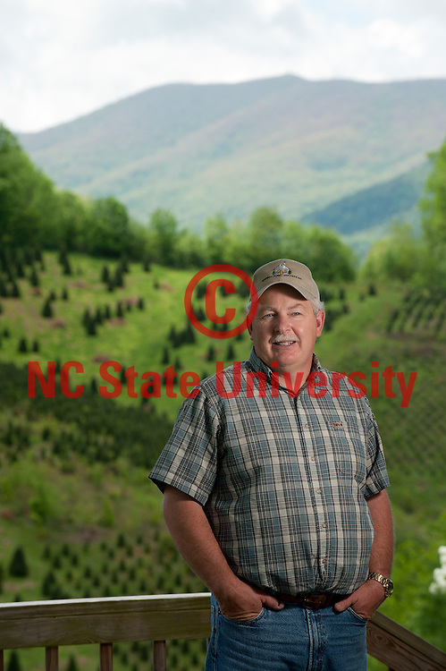 Keith Huffman is a Christmas tree farmer in Western North Carolina who uses the extension service to help his business. Photo by Marc Hall