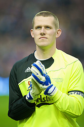 LIVERPOOL, ENGLAND - Thursday, May 14, 2009: Liverpool Legends' goalkeeper Paul Harrison before the Hillsborough Memorial Charity Game at Anfield. (Photo by David Rawcliffe/Propaganda)