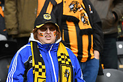 Hull City fan during the EFL Sky Bet Championship match between Hull City and Bristol City at the KCOM Stadium, Kingston upon Hull, England on 5 May 2019.