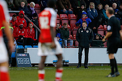 Bristol City Manager Steve Cotterill looks on - Photo mandatory by-line: Rogan Thomson/JMP - 07966 386802 - 20/12/2014 - SPORT - FOOTBALL - Crewe, England - Alexandra Stadium - Crewe Alexandra v Bristol City - Sky Bet League 1.