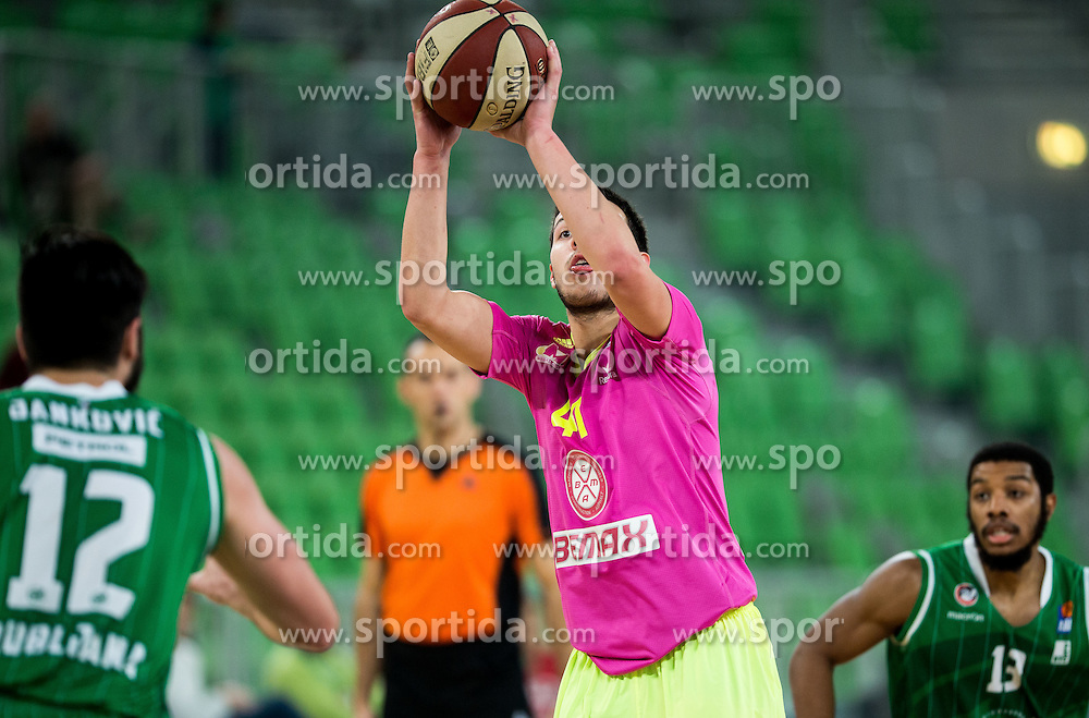 Jovan Novak of Mega Leks during basketball match between KK Union Olimpija Ljubljana and KK mega Leks in 14th Round of ABA League 2016/17, on December 18, 2016 in Arena Stozice, Ljubljana, Slovenia. Photo by Vid Ponikvar / Sportida