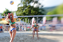 Muriel Graessli of Switzerland at A1 Beach Volleyball Grand Slam presented by ERGO tournament of Swatch FIVB World Tour 2012, on July 18, 2012 in Klagenfurt, Austria. (Photo by Matic Klansek Velej / Sportida)
