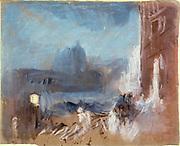 Venice: View of La Salute and the Ridotto at night'. Joseph Mallord Willliam Turner (1775-1851) English artist.