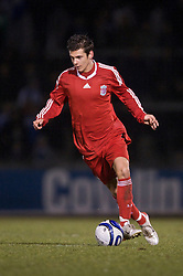BRISTOL, ENGLAND - Thursday, January 15, 2009: Liverpool's Alex Kacaniklic in action against Bristol Rovers during the FA Youth Cup match at the Memorial Stadium. (Mandatory credit: David Rawcliffe/Propaganda)