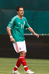 March 26, 2011; Oakland, CA, USA;  Mexico midfielder Javier Hernandez (14) during the first half against Paraguay at Oakland-Alameda County Coliseum. Mexico defeated Paraguay 3-1.