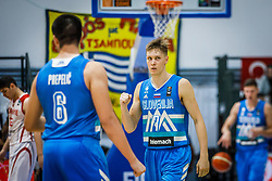 Glas Gregor of Slovenia during basketball match between National teams of Turkey and Slovenia in the SemiFinal of FIBA U18 European Championship 2019, on August 3, 2019 in Nea Ionia Hall, Volos, Greece. Photo by Vid Ponikvar / Sportida