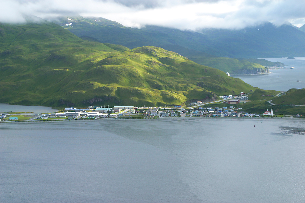 Alaska. Unalaska / Dutch Harbor Aerials of the port of Dutch Harbor and cargo facilities.