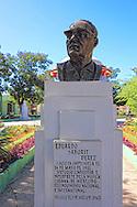 Bust of Eduardo Saborit Perez in Campechuela, Granma, Cuba.