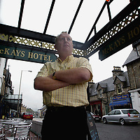 Owner of McKays Hotel in Pitlochry Don Lawson pictured at the entrance to his hotel on Atholl Road.<br />