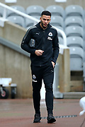 Jamaal Lascelles (#6) of Newcastle United arrives ahead of the Premier League match between Newcastle United and Huddersfield Town at St. James's Park, Newcastle, England on 31 March 2018. Picture by Craig Doyle.