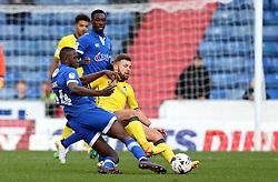 Matt Taylor of Bristol Rovers tackles Ousmane Fane of Oldham Athletic - Mandatory by-line: Robbie Stephenson/JMP - 22/10/2016 - FOOTBALL - Sportsdirect.com Park - Oldham, England - Oldham Athletic v Bristol Rovers - Sky Bet League One