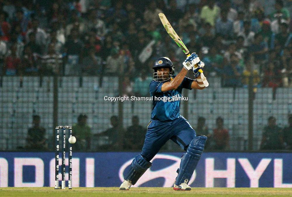 Tillakarantne Dilshan batting - England v Sri Lanka - ICC World Twenty20, Bangladesh 2014. 28 March 2014, Zahur Ahmed Chowdhury Stadium, Chittagong. Photo: Shamsul hoque Tanku/www.photosport.co.nz