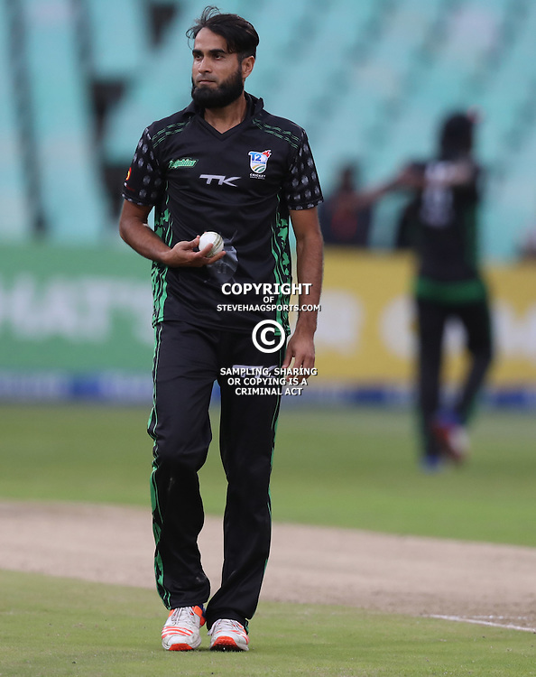 Imran Tahir of Hollywoodbets Dolphins during the Hollywoodbets Dolphins and Warriors T20 T20 Challenge.Sahara Stadium, Kingsmead Durban, South Africa.13 November 2016 - (Photo by Steve Haag)