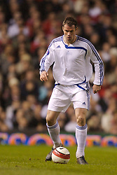 Manchester, England - Tuesday, March 13, 2007: Europe XI's Jamie Carragher in action against Manchester United during the UEFA Celebration Match at Old Trafford. (Pic by David Rawcliffe/Propaganda)