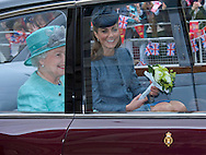 """KATE AND PRINCE WILLIAM ACCOMPANY QUEEN ON NOTTINGHAM VISIT.The royal party undertook a small walkabout on their visit to Market Square, Nottingham as part of The Queen's Diamond Jubilee tour of the United Kingdom_13/06/2012.Mandatory Credit Photo: ©Dias/DIASIMAGES..**ALL FEES PAYABLE TO: """"NEWSPIX INTERNATIONAL""""**..IMMEDIATE CONFIRMATION OF USAGE REQUIRED:.Newspix International, 31 Chinnery Hill, Bishop's Stortford, ENGLAND CM23 3PS.Tel:+441279 324672  ; Fax: +441279656877.Mobile:  07775681153.e-mail: info@newspixinternational.co.uk"""