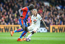 Valon Behrami of Watford looks to tackle Mamadou Sakho of Crystal Palace - Mandatory by-line: Jason Brown/JMP - 18/03/2017 - FOOTBALL - Selhurst Park - London, England - Crystal Palace v Watford - Premier League