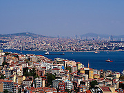 Istanbul on both sides of the Bosporus