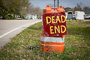 Dead end street near Pearl River, Louisiana
