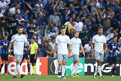 September 14, 2017 - Reggio Emilia, Italy - Everton players after the goal of 2-0 during the UEFA Europa League group E match between Atalanta and Everton FC at Stadio Citta del Tricolore on September 14, 2017 in Reggio nell'Emilia, Italy. (Credit Image: © Matteo Ciambelli/NurPhoto via ZUMA Press)