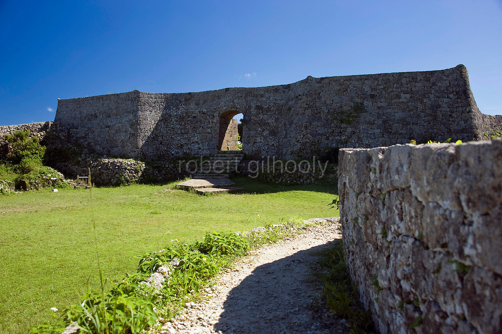 Photo shows the 3rd enclosure of Nakagusuku Castle ruins in KITA-NAKAGUSUKU VILLAGE, Okinawa Prefecture, Japan, on May 20, 2012. Photographer: Robert Gilhooly