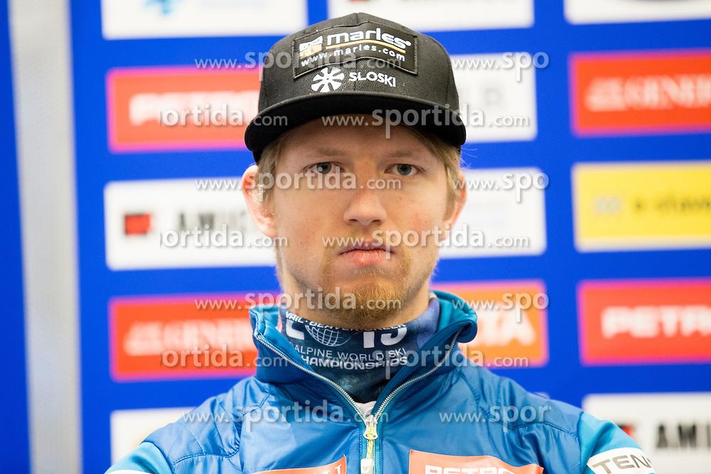 Klemen Kosi at press conference of Slovenian Alpine Ski Team before World Cup in St. Moritz, on January 31 2017, in Ljubljana, Slovenia. Photo by Urban Urbanc / Sportida