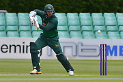 Michael Lumb square drives during the Royal London 1 Day Cup match between Worcestershire County Cricket Club and Nottinghamshire County Cricket Club at New Road, Worcester, United Kingdom on 27 April 2017. Photo by Simon Trafford.