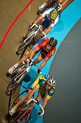 08-01-2012 WIELRENNEN: RABOBANK ZESDAAGSE: ROTTERDAM<br /> (van onder naar boven) Yoeri Havik - AA Drink, Jens Mouris, Leon van Bon<br /> (c)2012-FotoHoogendoorn.nl / Peter Schalk