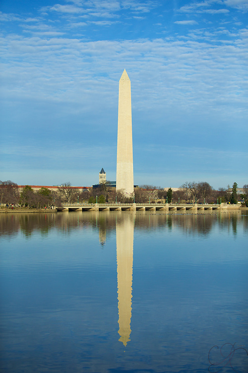 The Washington Monument as seen from the Tidal Basin from the FDR Memorial.