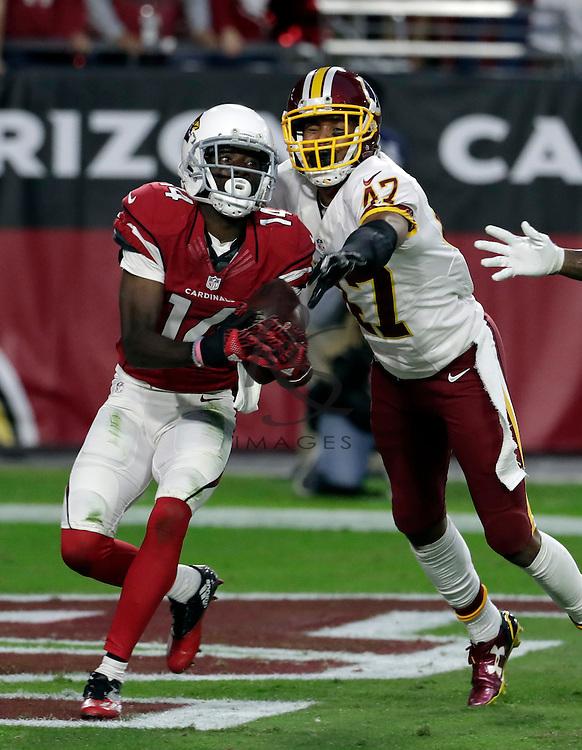 Arizona Cardinals wide receiver J.J. Nelson (14) during an NFL football game against the Washington Redskins, Sunday, Dec. 4, 2016, in Glendale, Ariz. (AP Photo/Rick Scuteri)