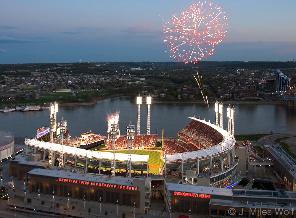 The Great American Ball Park and Fireworks