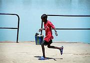 Senegalese Boy running - Podor Senegal