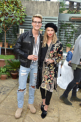 Oliver Proudlock and Emma Louise Connolly at The Ivy Chelsea Garden's Annual Summer Garden Party, The Ivy Chelsea Garden, 197 King's Road, London England. 9 May 2017.<br /> Photo by Dominic O'Neill/SilverHub 0203 174 1069 sales@silverhubmedia.com