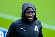 Mohamed Diame (#10) of Newcastle United arrives ahead of the Premier League match between Newcastle United and Liverpool at St. James's Park, Newcastle, England on 4 May 2019.