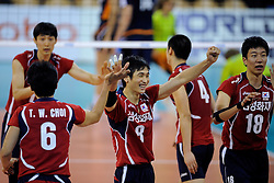 08-07-2010 VOLLEYBAL: WLV NEDERLAND - ZUID KOREA: EINDHOVEN<br /> Nederland verslaat Zuid Korea met 3-0 / Hak Min Kim en Sung Min Moon<br /> ©2010-WWW.FOTOHOOGENDOORN.NL